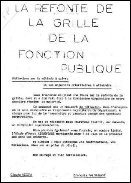 1977 1978 la refonte de la grille fonction publique vue - Grille de la fonction publique hospitaliere ...